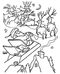 santa and reindeer coloring pages coloring home
