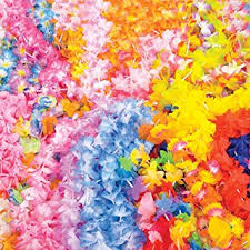 party supplies wholesale 100 assorted flower leis wholesale luau party