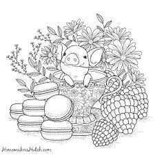 pig in a tea cup coloring page tea cup cups and teas