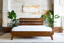 Modern Wooden Bed Furniture Platform Bed Bed Frame Walnut Bed Modern Bed Danish Modern