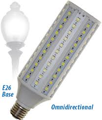 led l post bulbs led post top bulbs only 15 watts replaces mh and hps up to 120
