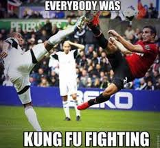 Soccer Player Meme - everybody was kung fu fighting funny soccer meme