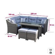 canape d exterieur ensemble de salon d extérieur en résine bisao canapé d angle d
