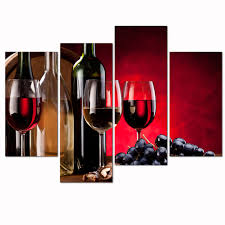 Grapes And Wine Home Decor Wine Artwork Print On Canvas Grape Picture Wall For Home