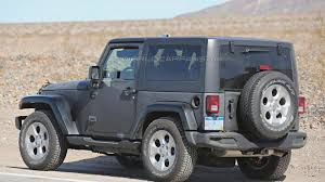 jeep truck 2018 spy photos 2018 jeep wrangler mule spied for the first time