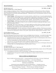 resume of financial analyst sample business resumes