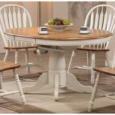 Two Tone Pedestal Dining Table Charming Decoration Pedestal Dining Table With Leaf Exciting