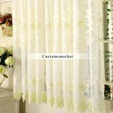 Yellow Sheer Curtains Sheer Curtains For Bay Windows In Yellow Sheer