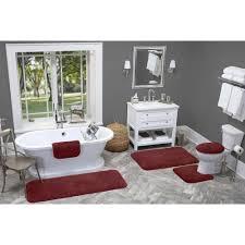Red Bath Rug Red Bathroom Sets