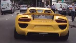 porsche spyder yellow porsche 918 spyder with racing yellow paint spotted in brazil video