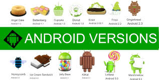 version of android android versions and small on