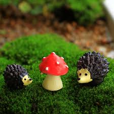 ginsco miniature ornament hedgehog set for