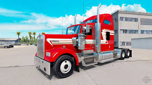 2017 kenworth w900 skin red and cream on the truck kenworth w900 for american truck
