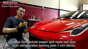 roll royce medan detailing process on red ferrari 458 italia by red u0027s medan youtube
