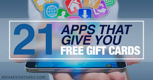 gift card reward apps 21 best apps that give you free gift cards