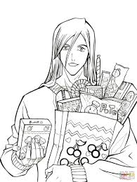 ukitake taichou who wants some candy from manga bleach coloring