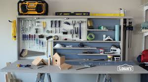 Build A Work Table Garage Workbench Garage Workbench Withlves Easy Wood Shop Work