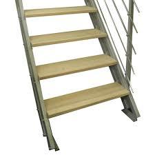 revetement pour escalier exterieur escalier modulaire escavario structure acier marche bois leroy