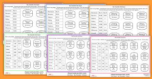 ks1 and ks2 using bus timetables trail chaser worksheets