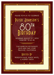 surprise 80th birthday party invitations christmas around the