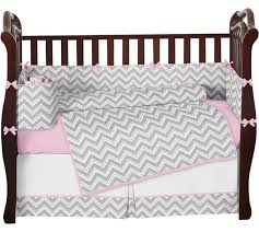Jojo Crib Bedding Gray And Pink Zig Zag Chevron Baby Bedding 9 Crib Set Crib