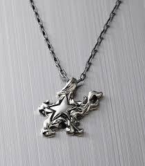 silver rock necklace images Black rock shooter silver necklace star skull jpg