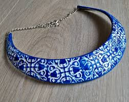 choker necklace blue images Ceramic blue choker necklace xtory jewelry jpg