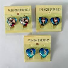 kids clip on earrings frozen party earring frozen earring clip kid jewelry new frozen