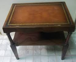 Antique Side Tables For Living Room Antique Coffee Tables W Leather Inlay Mahogany Leather Top