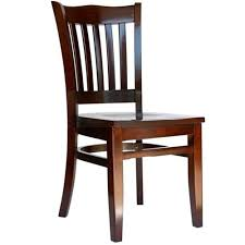 bfm seating princeton walnut wood back chair with wood seat