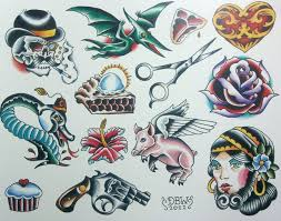 miscellaneous iii neotraditional tattoo flash sheet by derekbward