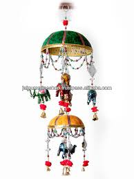 Gorgeous Indian Handmade Wall Hanginghanging Elephant Parasol - Indian wall hanging designs