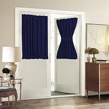 Blackout Door Panel Curtains Aquazolax Plain Blackout Door Panel Curtain Readymade