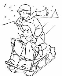 snowman kids color pages print winter coloring pages