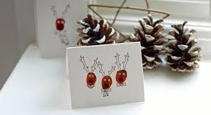 brown christmas cards diy reindeer christmas cards stay roam