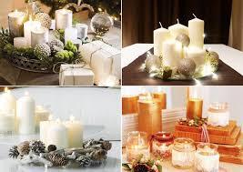 composizione di candele centrotavola con candele idee e spunti per illuminare la tavola
