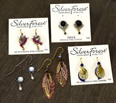 gifts home decor furniture and antiques ben franklin wavering s silver forest earrings