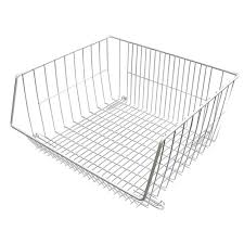 High Line Kitchen Pull Out Wire Basket Drawer Closetmaid 7 In H White Ventilated Wire Drawer 6209 The Home Depot