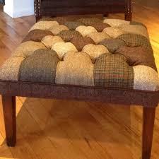 tetrad upholstery harris tweed mackenzie patchwork stool