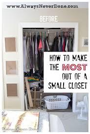organizing ideas for small closets diy closet organization 45 life