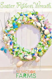 easter ribbon diy easter ribbon wreath tutorial nemcsok farms