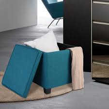 cube ottoman pouffe storage box ottoman lounge square linen seat