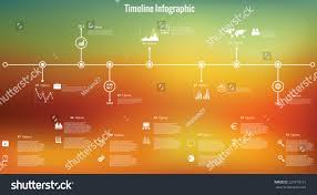 World Map Timeline by Vector Illustration Timeline Infographics 8 Icons Stock Vector