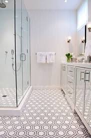 i this bathroom great tile pattern mirrored cabinet fronts
