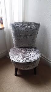 Grey Bedroom Chair by Silver Crushed Velvet Round Bedroom Chair In Pontypridd Rhondda