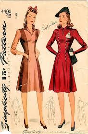1940s dresses 1940s simplicity 4400 vintage sewing pattern juniors princess