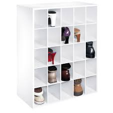essential home 25 pair shoe organizer white home storage