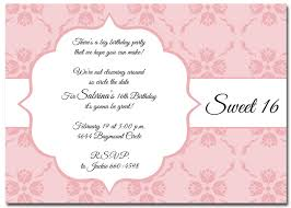 Sweet 16 Birthday Invitation Cards Elegant Birthday Invitations Lilbibby Com