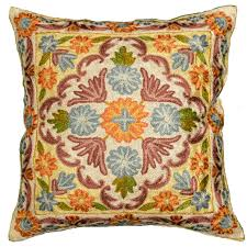 Sofa Pillows Covers by Embroidered Floral Pillows Archives Kashmir Fine Arts