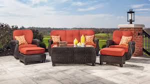 Patio Furniture Set by Breckenridge Swivel Rocker 2 Piece Patio Furniture Set Brick Red